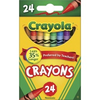 Crayola Coloured Crayons Non-Toxic - Pack of 24