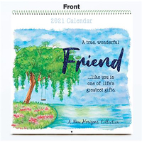 Calendar 2021 Friend Square Wall by For Arts Sake New Horizons Coll. CA21577-21