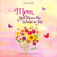 Blue Mountain Arts 2020 Square Wall Calendar Mom You Mean the World to Me