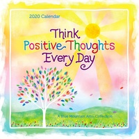 Blue Mountain Arts 2020 Square Wall Calendar Think Positive Thoughts Every Day