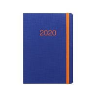 Diary 2020 Letts Memo A5 Week to View Navy/Orange 20-080994