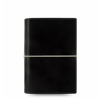 Filofax Domino Personal Organiser Black 2020 Diary 027810 Week on Two Pages