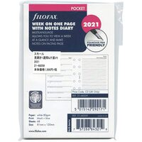 2021 Refill Filofax Pocket Week to Page w/ Notes Multilanguage 21-68209