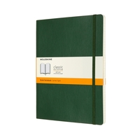 Moleskine Classic Notebook, Extra Large 19x25cm, Ruled, Soft Cover- Myrtle Green
