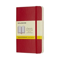 Moleskine Classic Soft Cover Pocket Notebook Squared Red