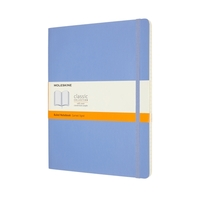 Moleskine Classic Notebook, Extra Large 19x25cm, Ruled, Soft Cover- Light Blue