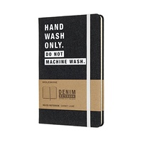 Moleskine Large Ruled Notebook, Denim Limited Collection Hardcover, Free Postage