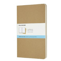 Moleskine Cahier Journal, Large, Dotted, Kraft, Set Of Three