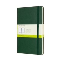 Moleskine Classic Notebook- Hard Cover, Plain, Large- Myrtle Green