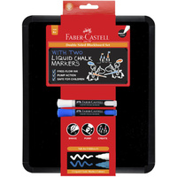 Faber-Castell - Double Sided Blackboard w/ 2 Liquid Chalk Markers