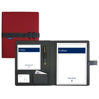 Debden Conference Portfolio Compendium A4 Red With Strap, 7023, Free Postage