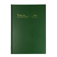2019-2020 Financial Year Diary Collins A5 2-Days to Page Green 28M4