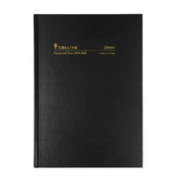 2019-2020 Financial Year Diary Collins A5 2-Days to Page Black 28M4