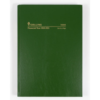 Collins 2020-2021 Financial Year Diary A4 Day to Page Green 14M4