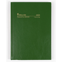 Collins 2020-2021 Financial Year Diary A5 2 Days to a Page Green 28M4