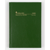 Collins 2020-2021 Financial Year Diary A6 Week to View Green 36M4