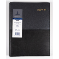 Collins Vanessa 2020-2021 Financial Year Diary A4 Day to Page Black FY145