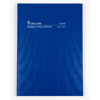 Collins Kingsgrove 2020-2021 Financial Year Diary A4 Week to View Blue FY341