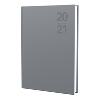 2021 Diary Debden Silhouette A4 Day to Page Silver S4100.P48