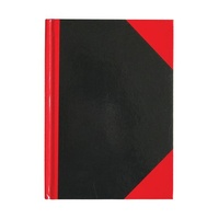 Collins Ruled Notebook 117 x 165mm Red & Black Hard Cover