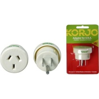 Korjo Travel Adaptor For USA, Canada and Mexico