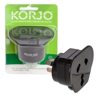 Korjo Adaptor For South Africa & India Plugs In Australia