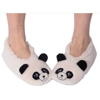 Nuzzles Animal Slippers Panda Non Slip Sole Socks Adult One Size Fits Most