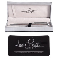 Louis Paget Textured Silver Ball Pen in Gift Box 86945 - Takes Parker Refill SOLD OUT