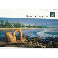 Steve Parish Postcard (Deluxe): Manly Beach & Rocks Pack of 20