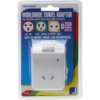 Jackson International World Wide Travel Adaptor - Use In More Than 150 Countries