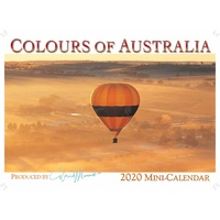 2020 Mini Calendar, Colours of Australia, David Messent Photography