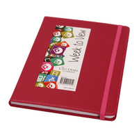 2021 Diary Becall A5 Week to View Hot Pink by Last Diary Company BA57HP