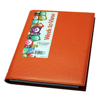 2021 Diary Victoria A5 Week to View Orange by Last Diary Company VA57OR