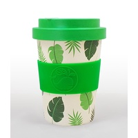 Happy Green Whale Bamboo Eco Cup - Regular 340ML - Greenery