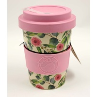 Happy Green Whale Bamboo Eco Cup - Regular 340ML - Gum Blossom