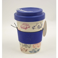 Happy Green Whale Bamboo Eco Cup - Regular 340ML - Cars