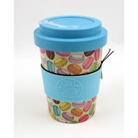 Eco Bamboo Reusable Coffee Travel Mug - Regular 340 mL - Macarons
