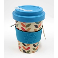 Happy Green Whale Bamboo Eco Cup - Regular 340ML - Multi Leaves