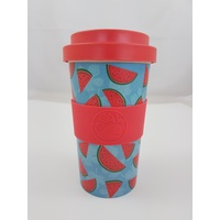 Happy Green Whale Bamboo Eco Cup - Large 450ML - Watermelons