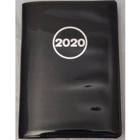 Diary 2020 Ozcorp A7 Week to View DA04 78x112mm Black