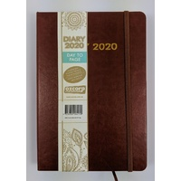 Diary 2020 Ozcorp A5 Day to Page Tan D465