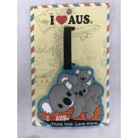 Banksia I Love Aus Australian Travel Luggage Tag Koala Think Less Love More