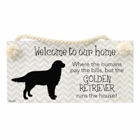 Splosh Precious Pets Hanging Sign - Golden Retriever
