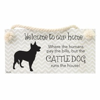 Splosh Precious Pets Hanging Sign - Cattle Dog