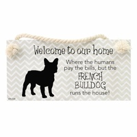 Splosh Precious Pets Hanging Sign - French Bulldog