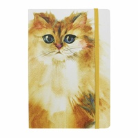 Splosh Art Of Cats - Journal (A5 Lined) Yellow Cat