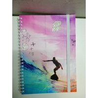 Urban By Modena Notebook 5-Subject A5 Spiral Tropical SURF