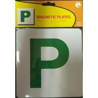 Magnetic Green P Plates - One Pair