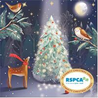 Christmas Card (Pk of 10) RSPCA Charity Magical Trees Friends by Vevoke VE-XCP20008