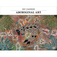 2021 Calendar Aboriginal Art Horizontal Wall by Browntrout A08214